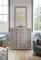 Warwick Grey illusion 5 Drawer Chest